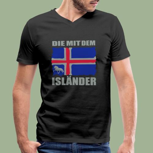 Die mit dem Isländer - Männer Bio-T-Shirt mit V-Ausschnitt von Stanley & Stella