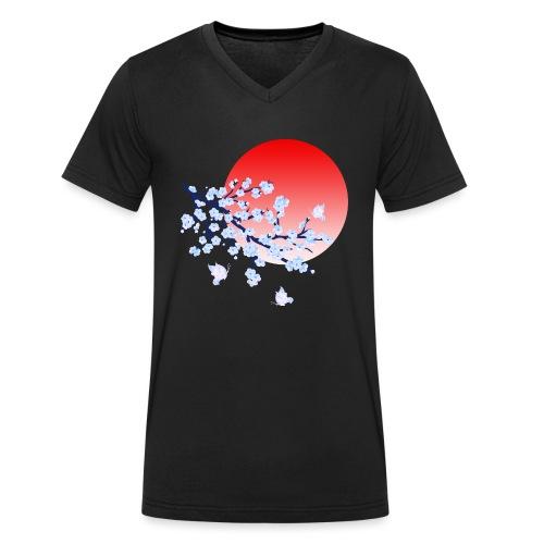 Cherry Blossom Festval Full Moon 4 - Männer Bio-T-Shirt mit V-Ausschnitt von Stanley & Stella