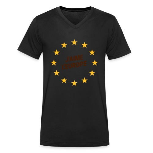 J'aime l'europe- ich liebe Europa - Männer Bio-T-Shirt mit V-Ausschnitt von Stanley & Stella