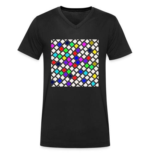 Kacheln - Männer Bio-T-Shirt mit V-Ausschnitt von Stanley & Stella