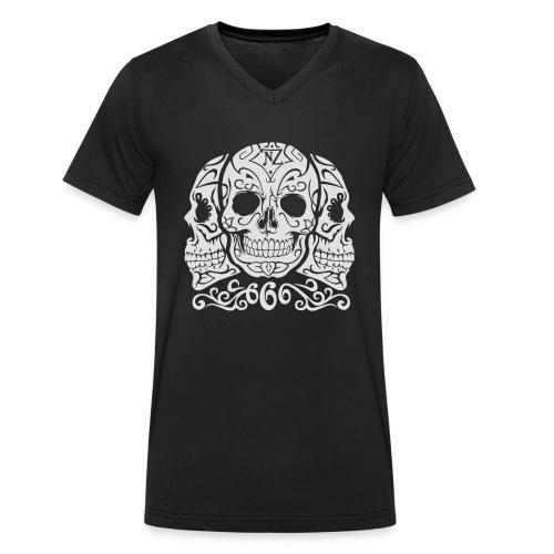 Skull Dia de los muertos - T-shirt bio col V Stanley & Stella Homme