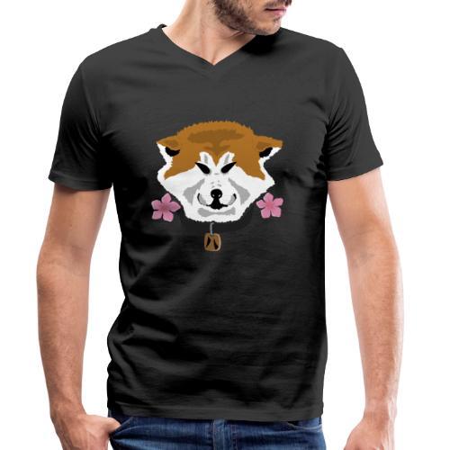 Akita - T-shirt ecologica da uomo con scollo a V di Stanley & Stella