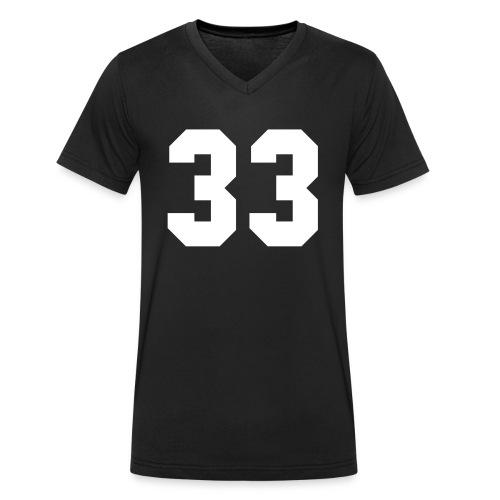33 - Mannen bio T-shirt met V-hals van Stanley & Stella