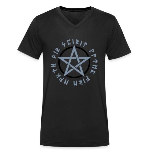 Pentagramm, Elemente, Runen, Magie, Symbol, Stern - Männer Bio-T-Shirt mit V-Ausschnitt von Stanley & Stella