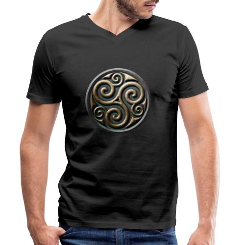 Celtic trisquel - Men's Organic V-Neck T-Shirt by Stanley & Stella
