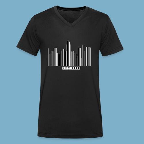 City Code - Deine Stadt - Männer Bio-T-Shirt mit V-Ausschnitt von Stanley & Stella