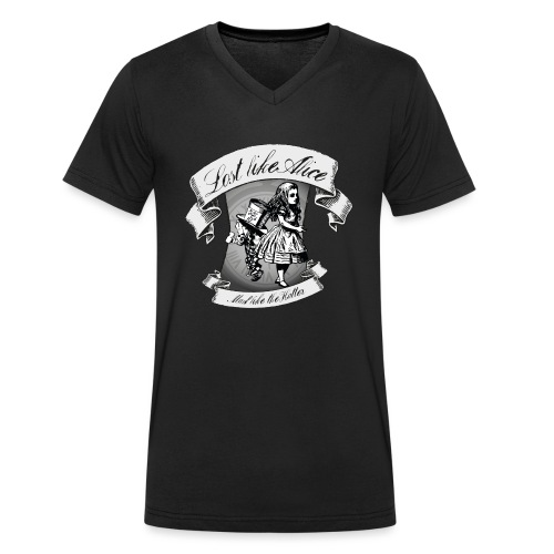 Lost like Alice, Mad like the Hatter - Men's Organic V-Neck T-Shirt by Stanley & Stella