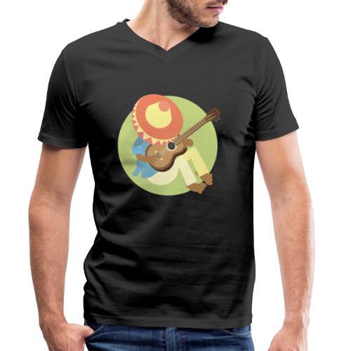 Gitarre spielen - Männer Bio-T-Shirt mit V-Ausschnitt von Stanley & Stella