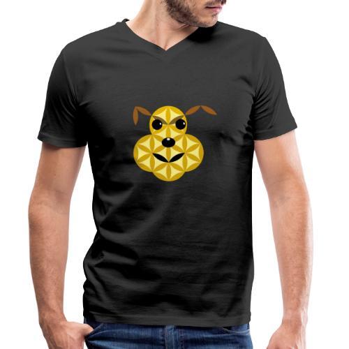 The Dog Of Life - Sacred Animals - Men's Organic V-Neck T-Shirt by Stanley & Stella
