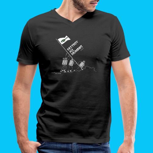 Dat Robot: Destroy War Dark - Mannen bio T-shirt met V-hals van Stanley & Stella