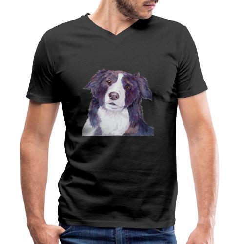 bordercollie coloristic - Økologisk Stanley & Stella T-shirt med V-udskæring til herrer