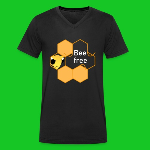 Bee Free - Mannen bio T-shirt met V-hals van Stanley & Stella