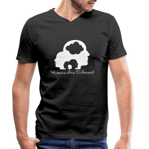 Humans are different weiß - Männer Bio-T-Shirt mit V-Ausschnitt von Stanley & Stella