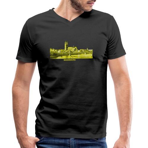 Magdeburg Dom Sachsen-Anhalt Deutschland Elbe - Männer Bio-T-Shirt mit V-Ausschnitt von Stanley & Stella