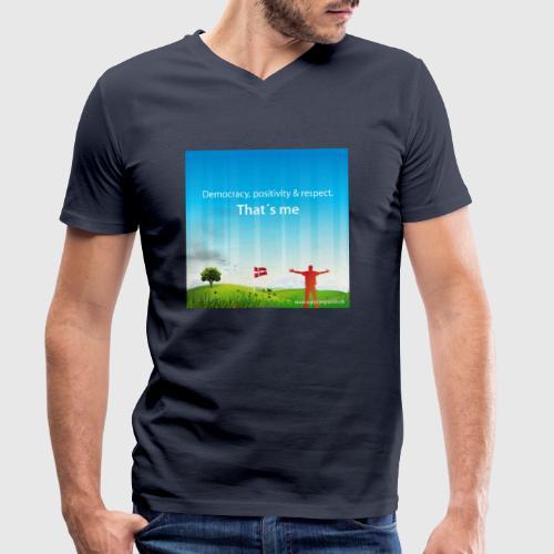 Rolling hills tshirt - Økologisk Stanley & Stella T-shirt med V-udskæring til herrer