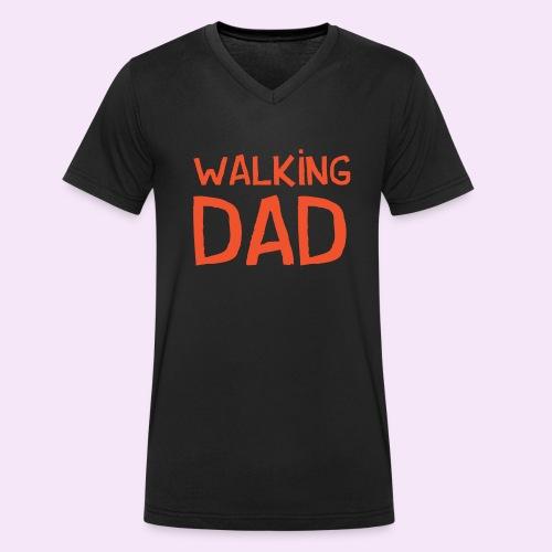 Vierdaagse Nijmegen - Walking Dad RED - Mannen bio T-shirt met V-hals van Stanley & Stella