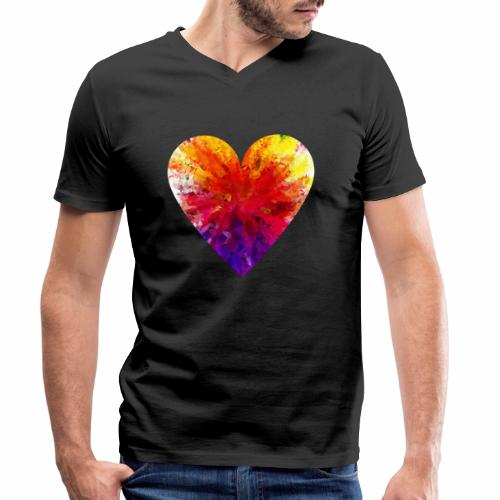 Herz Kristall - Männer Bio-T-Shirt mit V-Ausschnitt von Stanley & Stella
