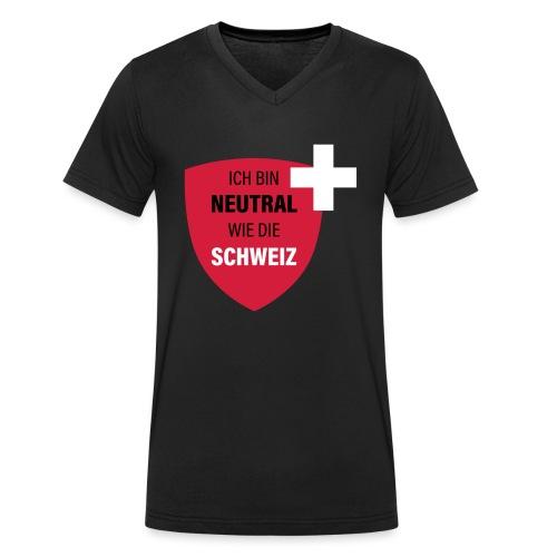 Neutral wie die Schweiz - Männer Bio-T-Shirt mit V-Ausschnitt von Stanley & Stella