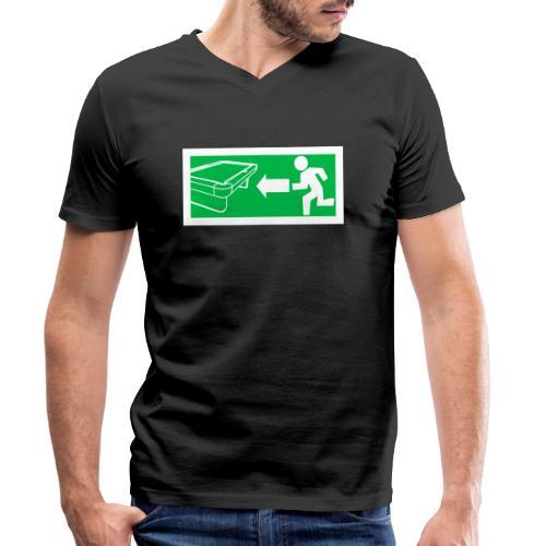 """Billard Shirt """"Notausgang Billard"""" - Pool Billard - Männer Bio-T-Shirt mit V-Ausschnitt von Stanley & Stella"""