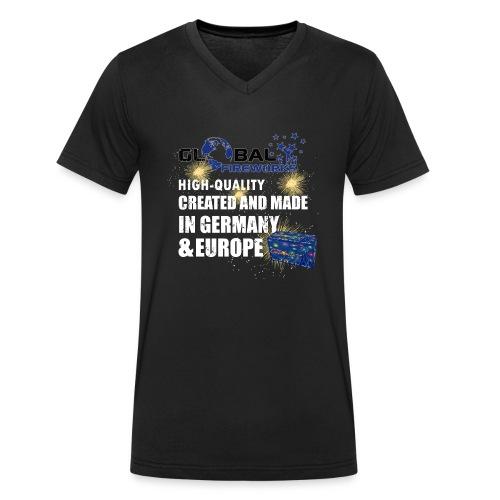 Golbal Fireworks - Männer Bio-T-Shirt mit V-Ausschnitt von Stanley & Stella