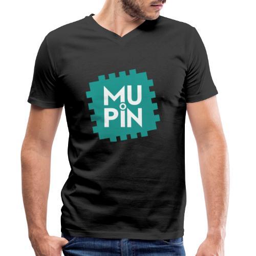 Logo Mupin quadrato - T-shirt ecologica da uomo con scollo a V di Stanley & Stella
