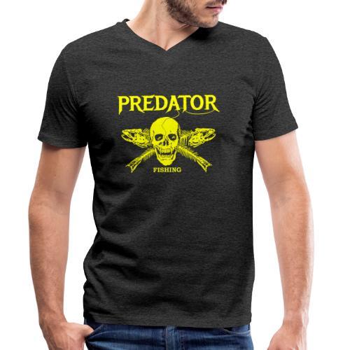 Predator fishing yellow - Männer Bio-T-Shirt mit V-Ausschnitt von Stanley & Stella
