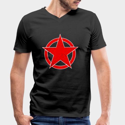 ESTRELLA EN CIRCULO - Camiseta ecológica hombre con cuello de pico de Stanley & Stella