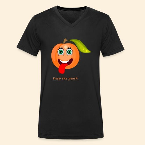 Whoua keep the peach - T-shirt bio col V Stanley & Stella Homme