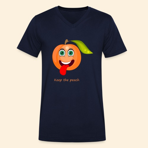 Whoua keep the peach - T-shirt bio col V Stanley & Stella Homme