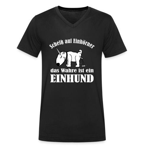 Einhund - Männer Bio-T-Shirt mit V-Ausschnitt von Stanley & Stella