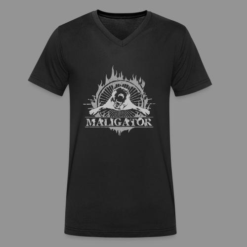 Maligator - Belgian shepherd - Malinois - Men's Organic V-Neck T-Shirt by Stanley & Stella