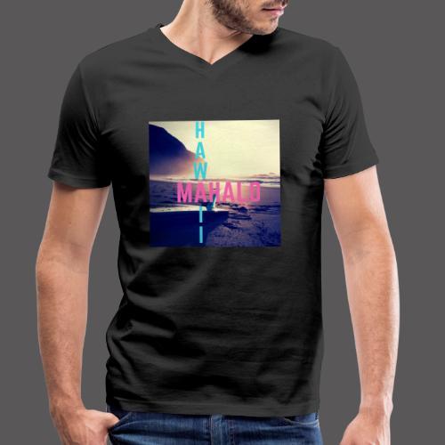 Hawaii Mahalo - Männer Bio-T-Shirt mit V-Ausschnitt von Stanley & Stella
