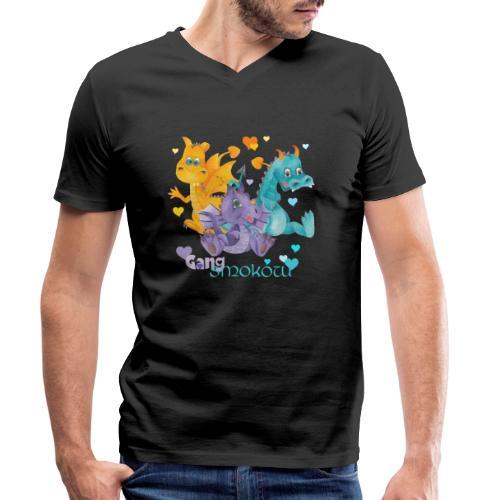 Gang Smoków - Ekologiczna koszulka męska z dekoltem w serek Stanley & Stella