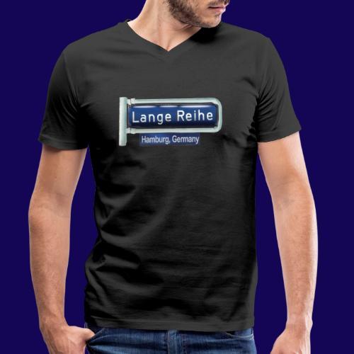 Lange Reihe: altes Straßenschild, Hamburg Germany - Männer Bio-T-Shirt mit V-Ausschnitt von Stanley & Stella