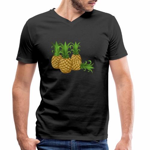 Ananas - Männer Bio-T-Shirt mit V-Ausschnitt von Stanley & Stella