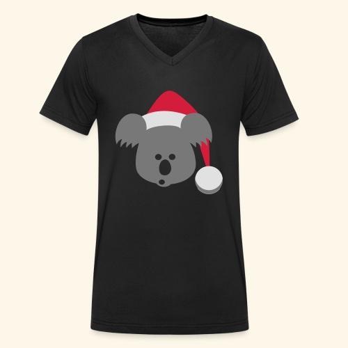 Koala Design Nikoalaus - Männer Bio-T-Shirt mit V-Ausschnitt von Stanley & Stella