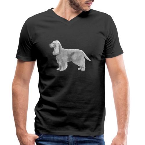English cocker spaniel golden - Økologisk Stanley & Stella T-shirt med V-udskæring til herrer