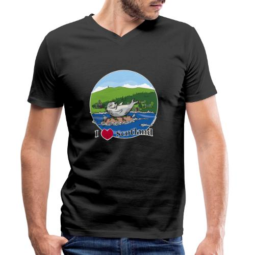 I heart Scotland - Sutherland & Caithness - Men's Organic V-Neck T-Shirt by Stanley & Stella