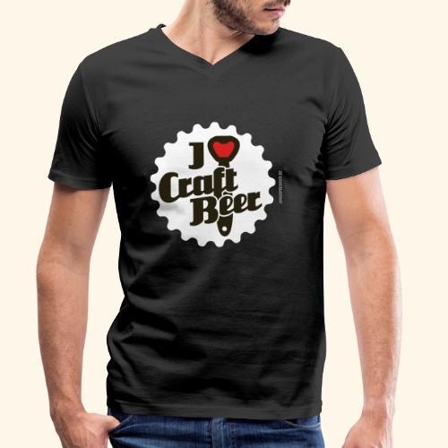 Craft Beer T-Shirt Design I Love Craft Beer - Männer Bio-T-Shirt mit V-Ausschnitt von Stanley & Stella