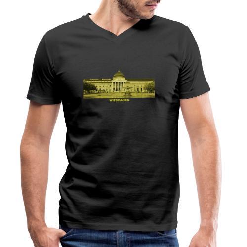 Wiesbaden Landeshauptstadt Hessen Kurhaus Casino - Männer Bio-T-Shirt mit V-Ausschnitt von Stanley & Stella