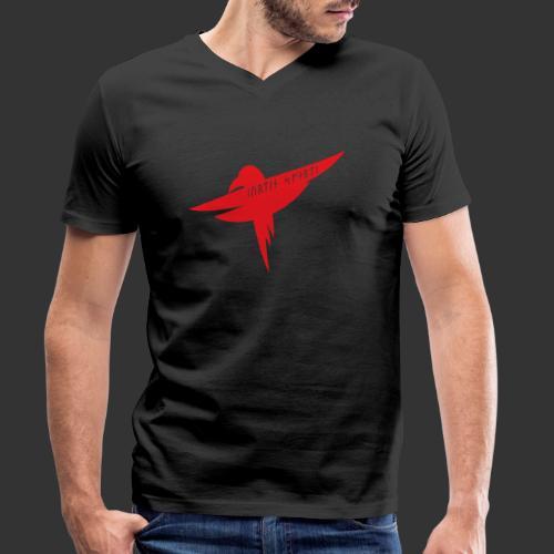 Raven Red - Men's Organic V-Neck T-Shirt by Stanley & Stella