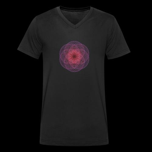 Kontrast Hoodie - Geometric Art - Männer Bio-T-Shirt mit V-Ausschnitt von Stanley & Stella