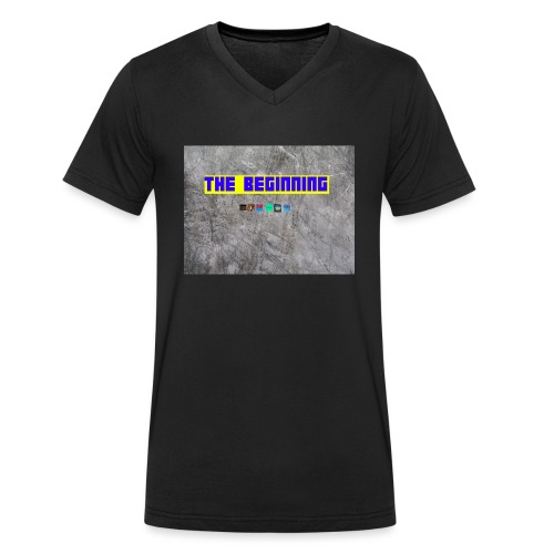 The Beginning - Men's Organic V-Neck T-Shirt by Stanley & Stella
