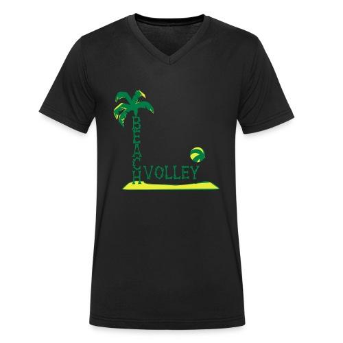 Premium Hoodie Beach Volley Ball - Männer Bio-T-Shirt mit V-Ausschnitt von Stanley & Stella