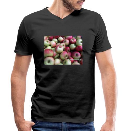 Äpfel - Männer Bio-T-Shirt mit V-Ausschnitt von Stanley & Stella