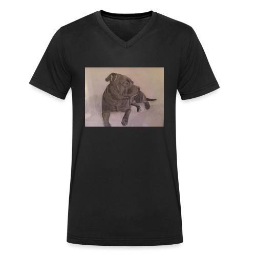 My dog - Ekologisk T-shirt med V-ringning herr från Stanley & Stella