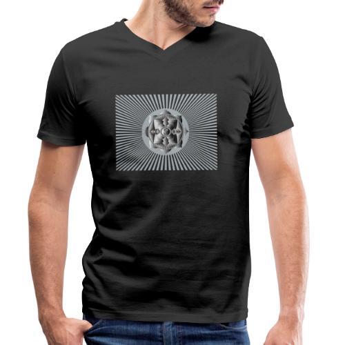 Lotus Glück Buddha - Männer Bio-T-Shirt mit V-Ausschnitt von Stanley & Stella