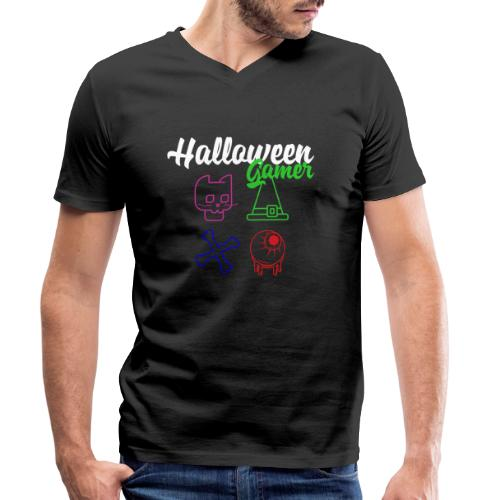 Halloween Gamer Zocken Gaming Controller Shirt - Männer Bio-T-Shirt mit V-Ausschnitt von Stanley & Stella
