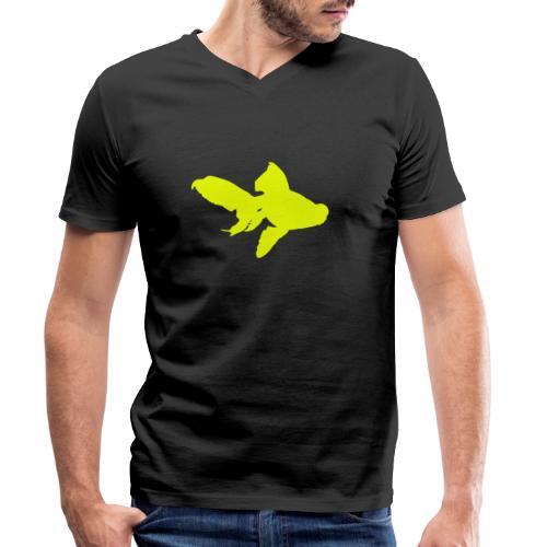 black moor - T-shirt ecologica da uomo con scollo a V di Stanley & Stella