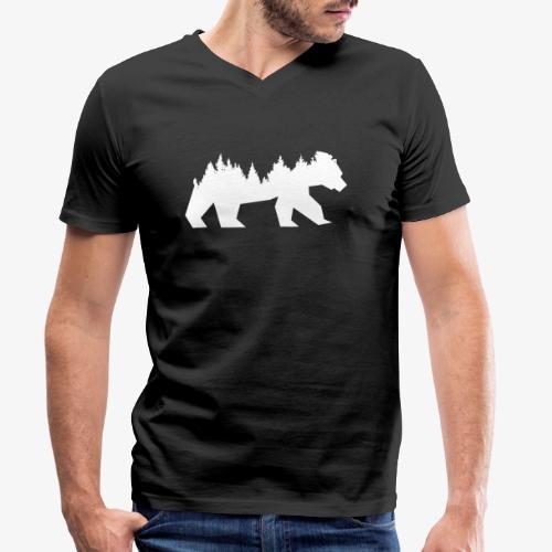 Bear Wald - Männer Bio-T-Shirt mit V-Ausschnitt von Stanley & Stella